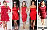LEKRE I KNALLRØDT: Den knallrøde kjolen er en sikker vinner på fest denne høsten og vinteren. Fra venstre - Taylor Swift, Pippa Middleton, Sophia Bush, Kim Kardashian og Amy Adams.  Foto: All Over Press